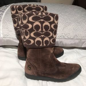 Coach suede/ wool winter boots size 6M